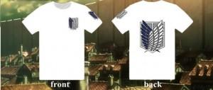 Camiseta de Shingeki no kyojin