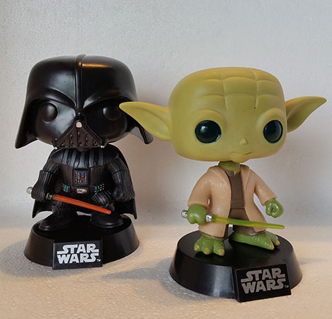 Figuras Pop Star Wars Darth Vader y Yoda