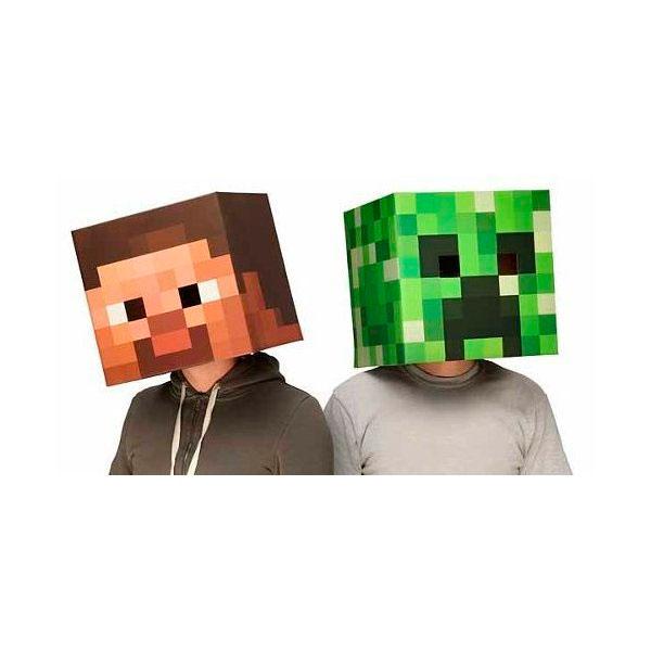 Cabezón Steve y Creeper