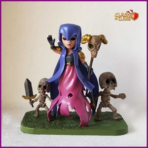 Figura-Clash-of-Clans-Bruja-con-esqueletos-Frontal